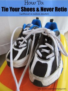 How To Tie Your Shoes & Never Re-Tie!
