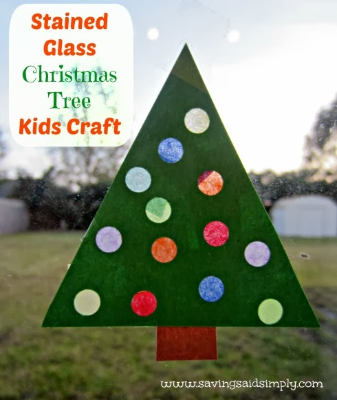 Stained Glass Christmas tree craft