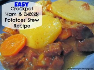 Easy Crockpot Ham & Cheesy Potatoes Stew Recipe