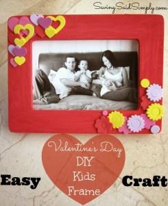 Easy Valentine's Day DIY Kids Frame Craft