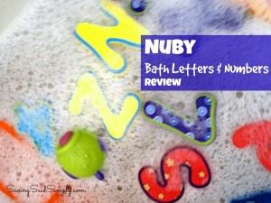 Nuby Bath Letters and Numbers = Water Learning Fun