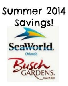 SeaWorld Busch Gardens Summer 2014 Savings – $30 Off Weekday Ticket