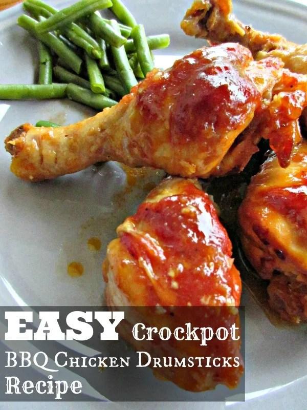 Easy Crockpot BBQ Chicken Drumstick Recipe
