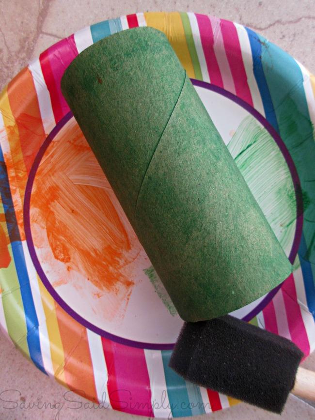 Toilt Paper Roll Pumpkin Craft