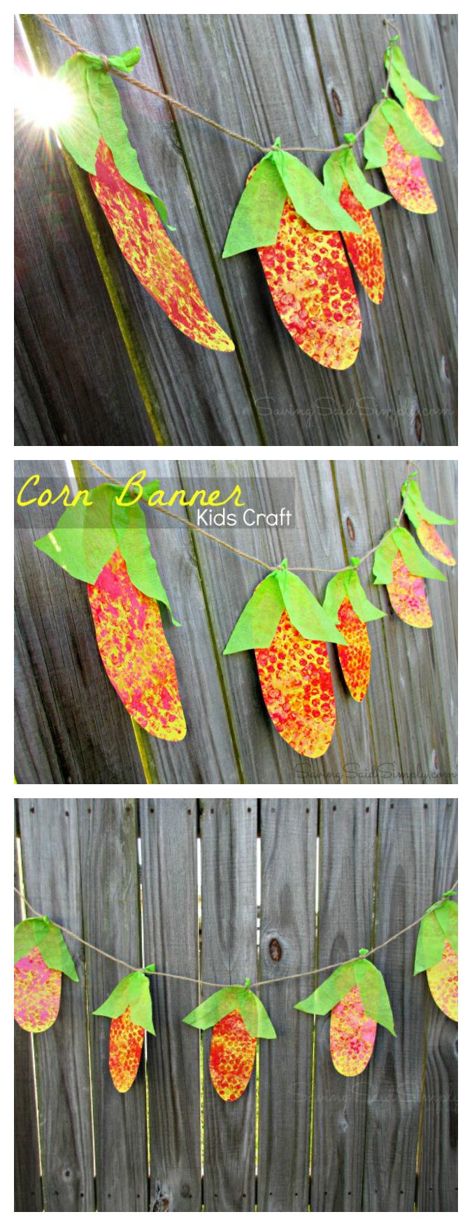Corn garland craft pinterest