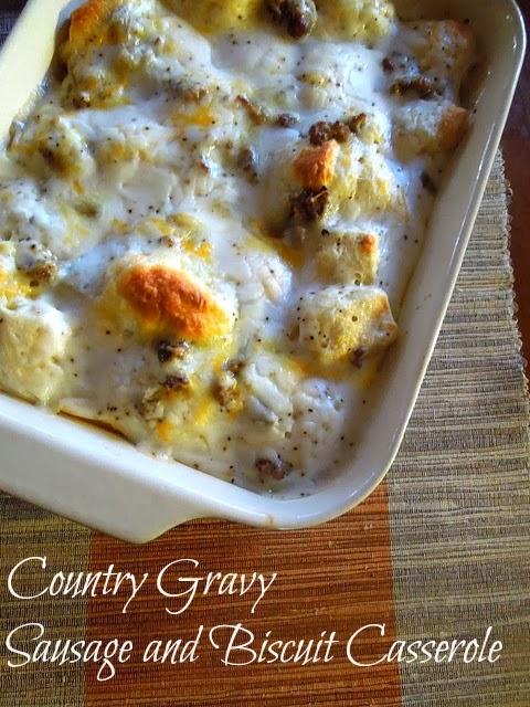 Country gravy biscuit sausage gravy casserole