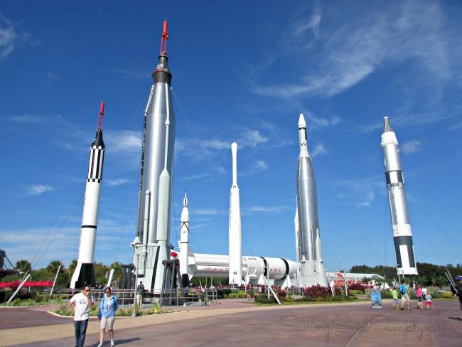 Kennedy space center rocket garden kids