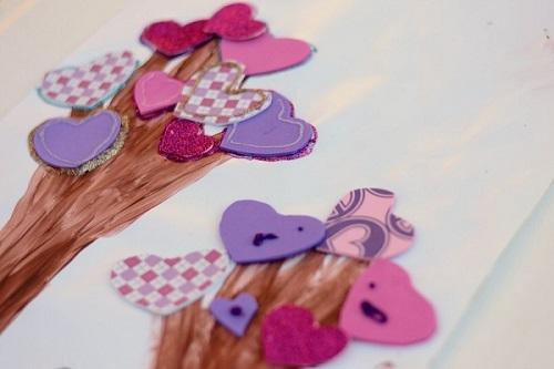 Heart tree craft