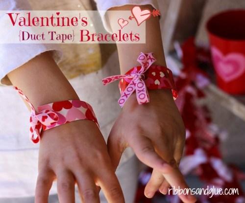 Valentines duct tape bracelets