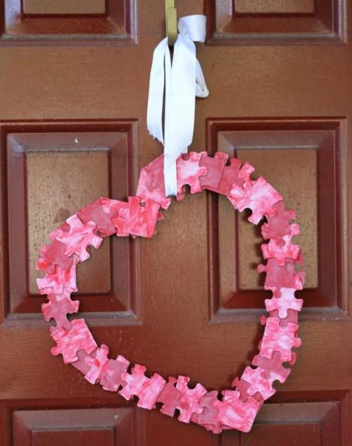Valentines day craft wreath