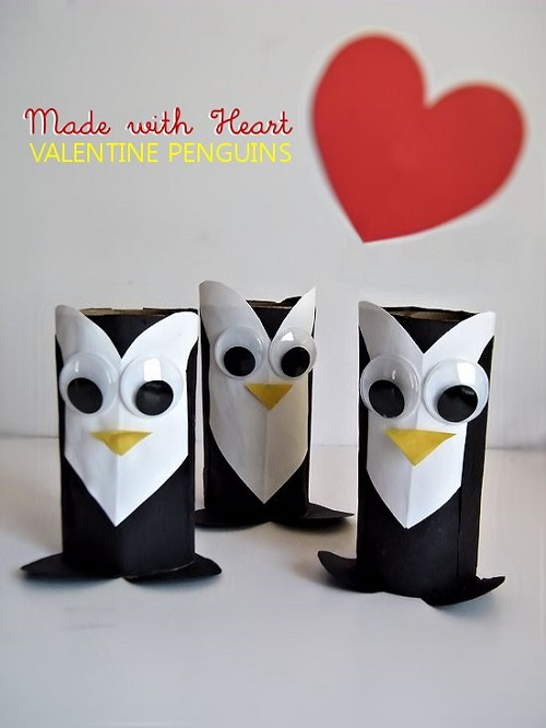 Valentine penguins