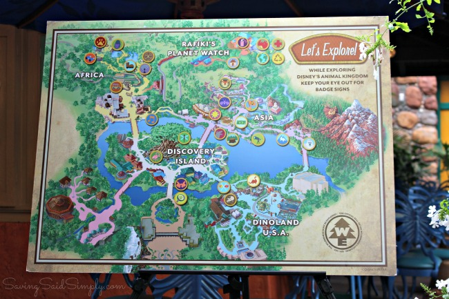 Wilderness explorers guide map