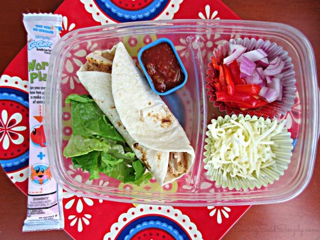 Burrito lunchbox idea