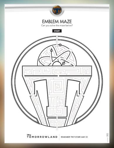 Disney Tomorrowland free kids coloring pages