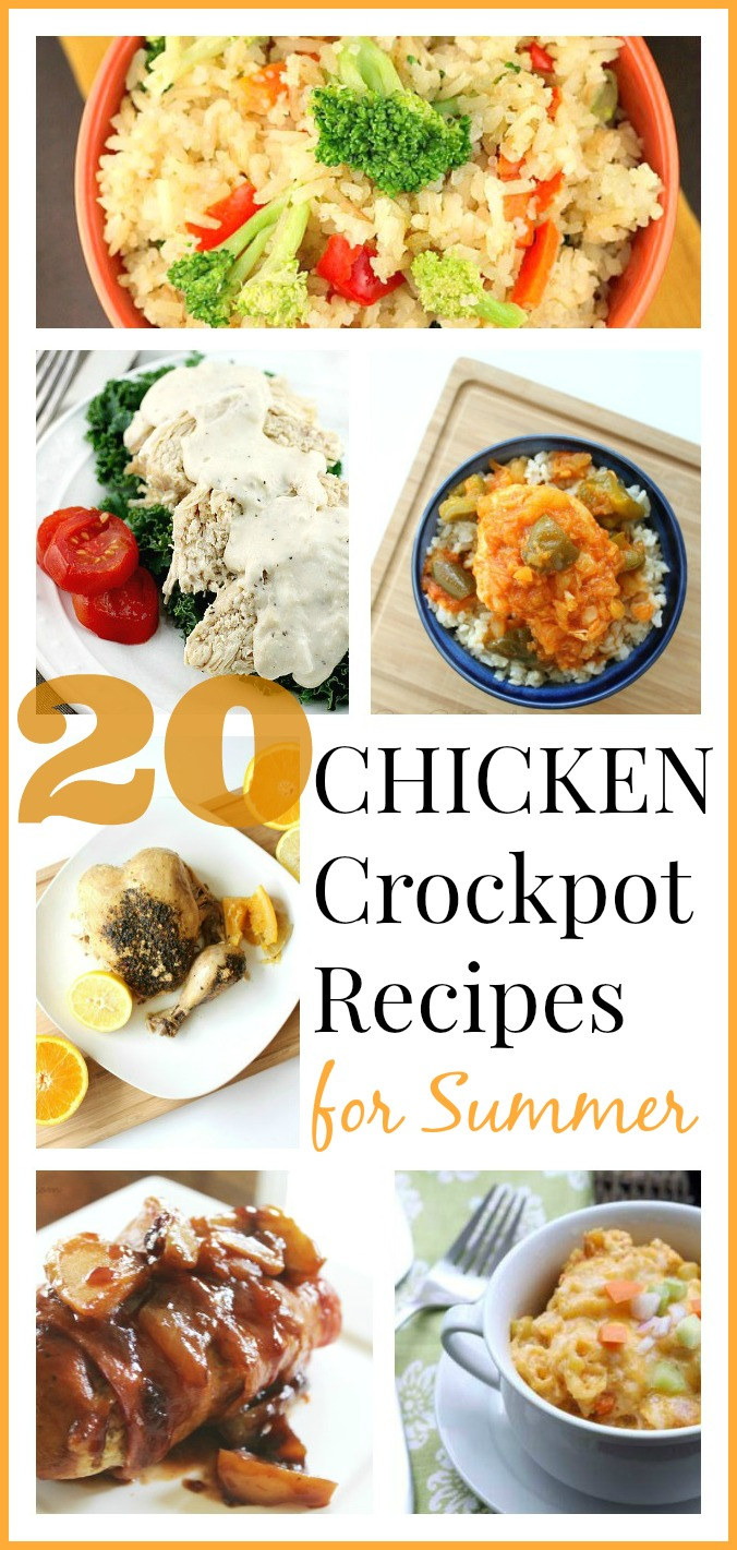 Crockpot chicken recipes for summer round up