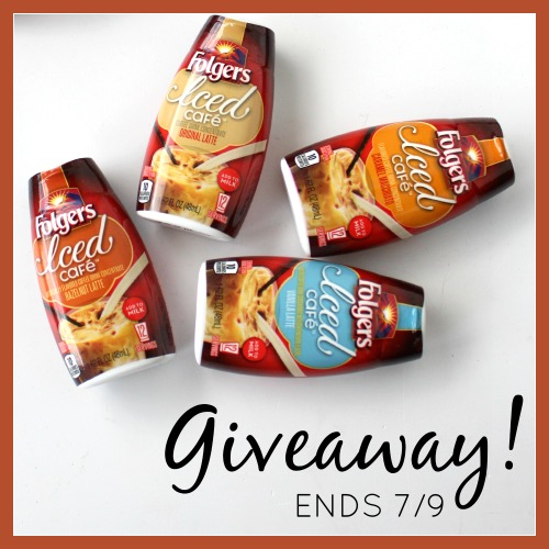 Folgers giveaway iced cafe