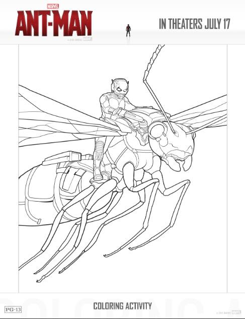 Free-ant-man-printable-coloring-sheets