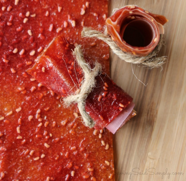 DIY fruit leather raspberry mango