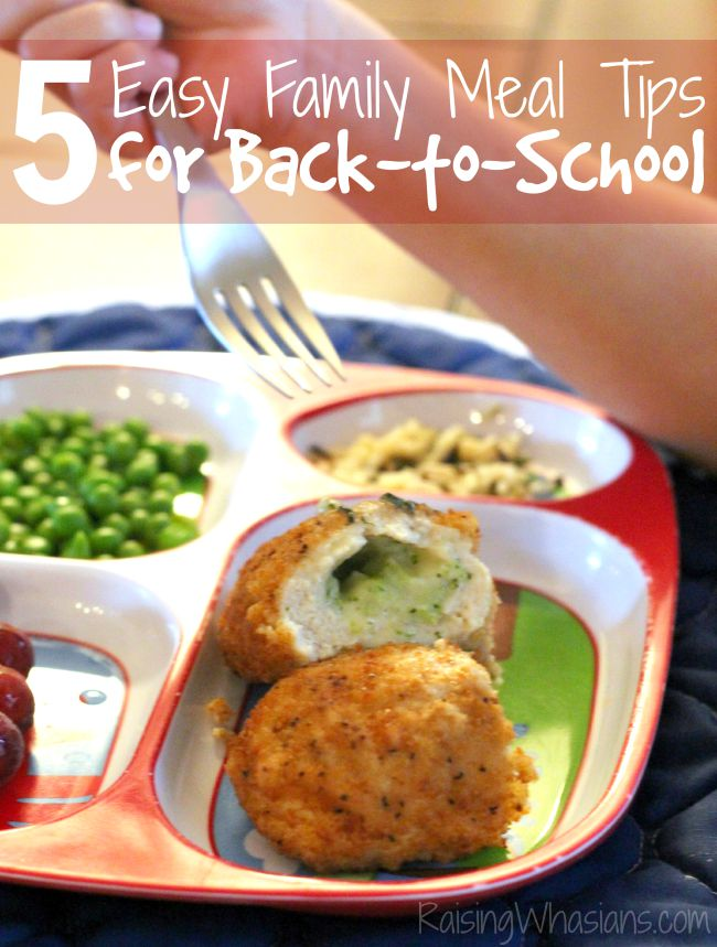 Easy back to school family meal tips