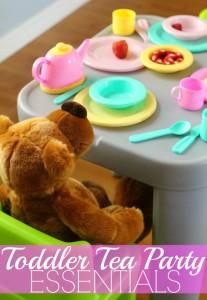 Toddler tea party essentials