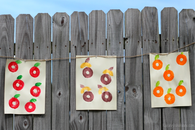 Fall stamp crafts for toddlers