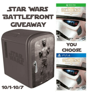 Star Wars Battlefront Deluxe Edition for XBox One or PS4 Giveaway