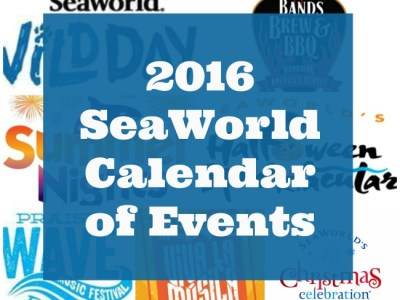 2016 SeaWorld calendar of events