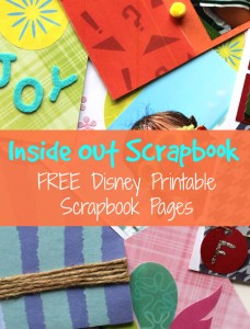 Inside out scrapbook free Disney scrapbook pages