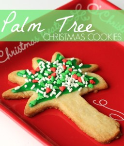 Spread Cheer with Palm Tree Christmas Cookies + $20 PayPal Giveaway