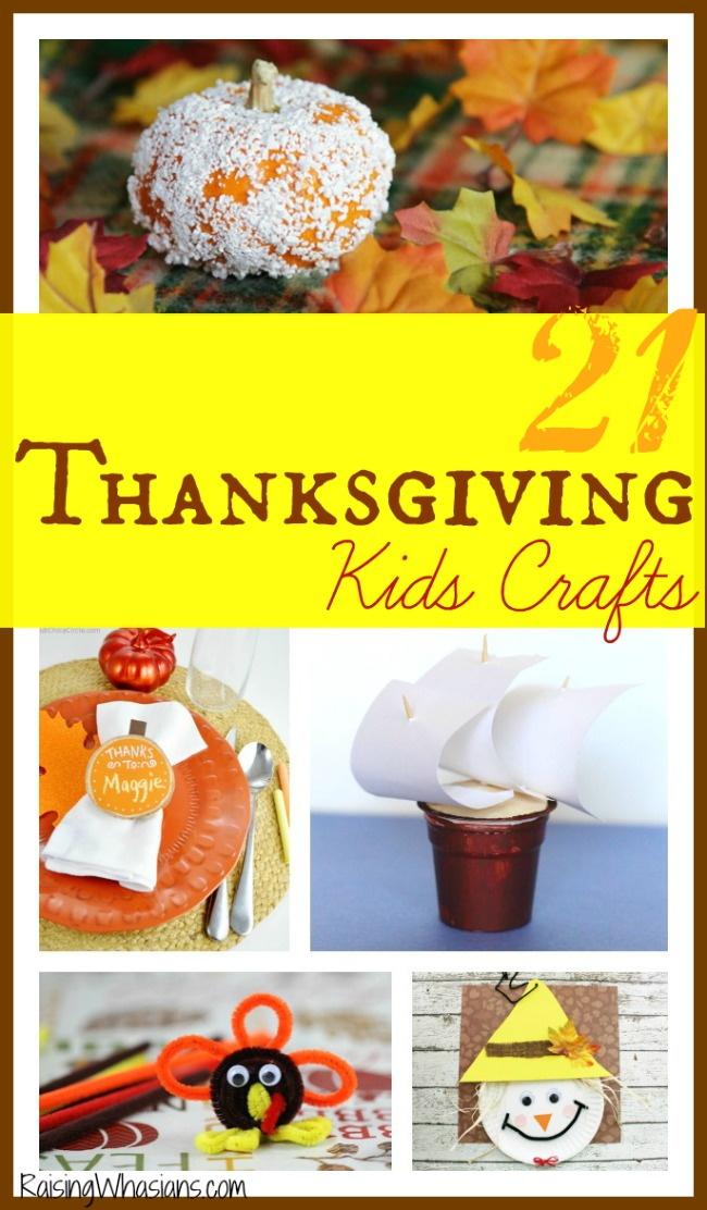 Thanksgiving kids crafts to create this November