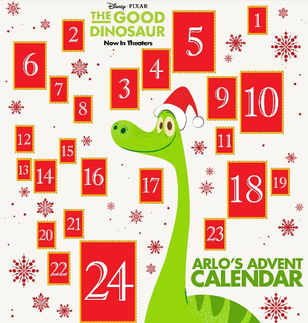 Disney good dinosaur advent calendar