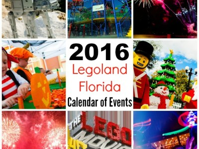 2016 Legoland Florida calendar of events