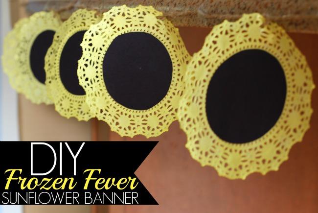 DIY Disney frozen fever party sunflower banner
