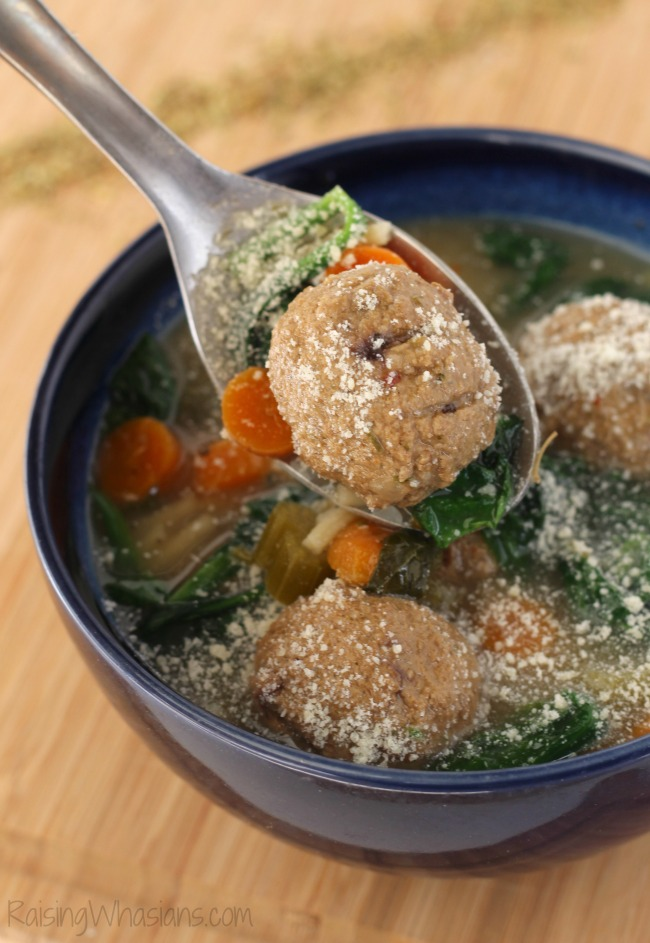 Easy Italian wedding soup slow cooker