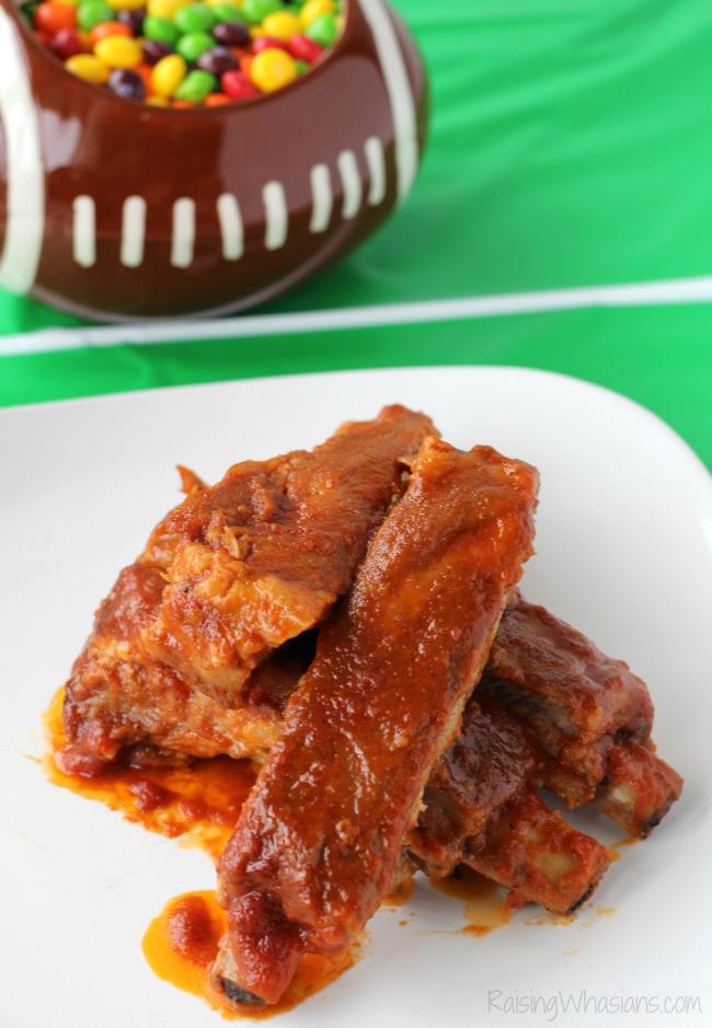 Skittles bbq sauce slow cooker ribs