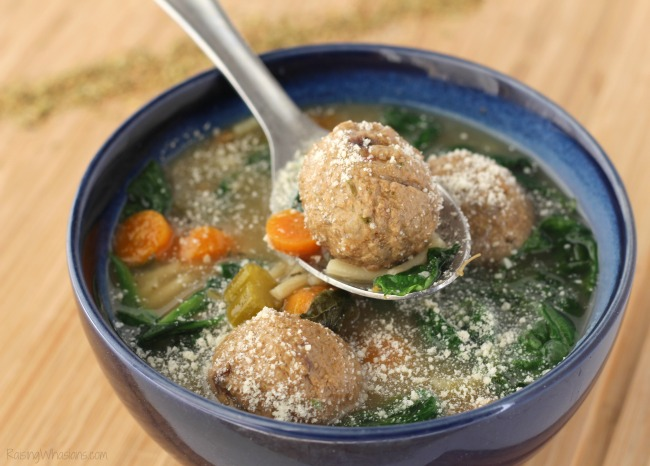 Slow cooker Italian wedding soup recipe Gluten-Free Slow Cooker Italian Wedding Soup Recipe   A delicious healthier twist on a hearty soup for the family, made in your crock pot, no gluten #Recipe #SlowCooker #Soup #EasyRecipe #GlutenFree #GlutenFreeRecipe