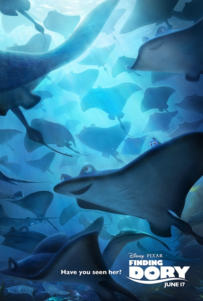 Movie posters finding Dory