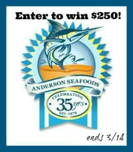 $250 Spring Anderson Seafoods Giveaway