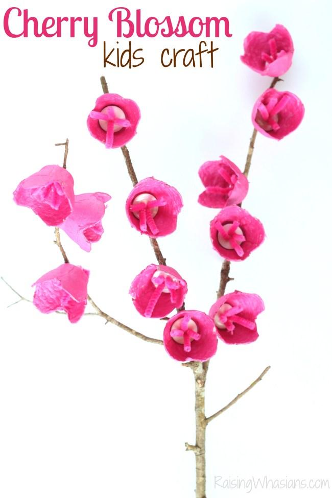 Cherry blossom kids craft for spring