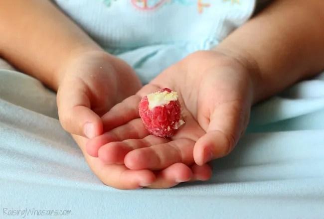 Easy toddler snack raspberry