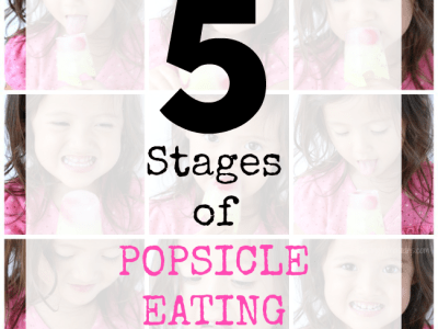 Stages of popsicle eating