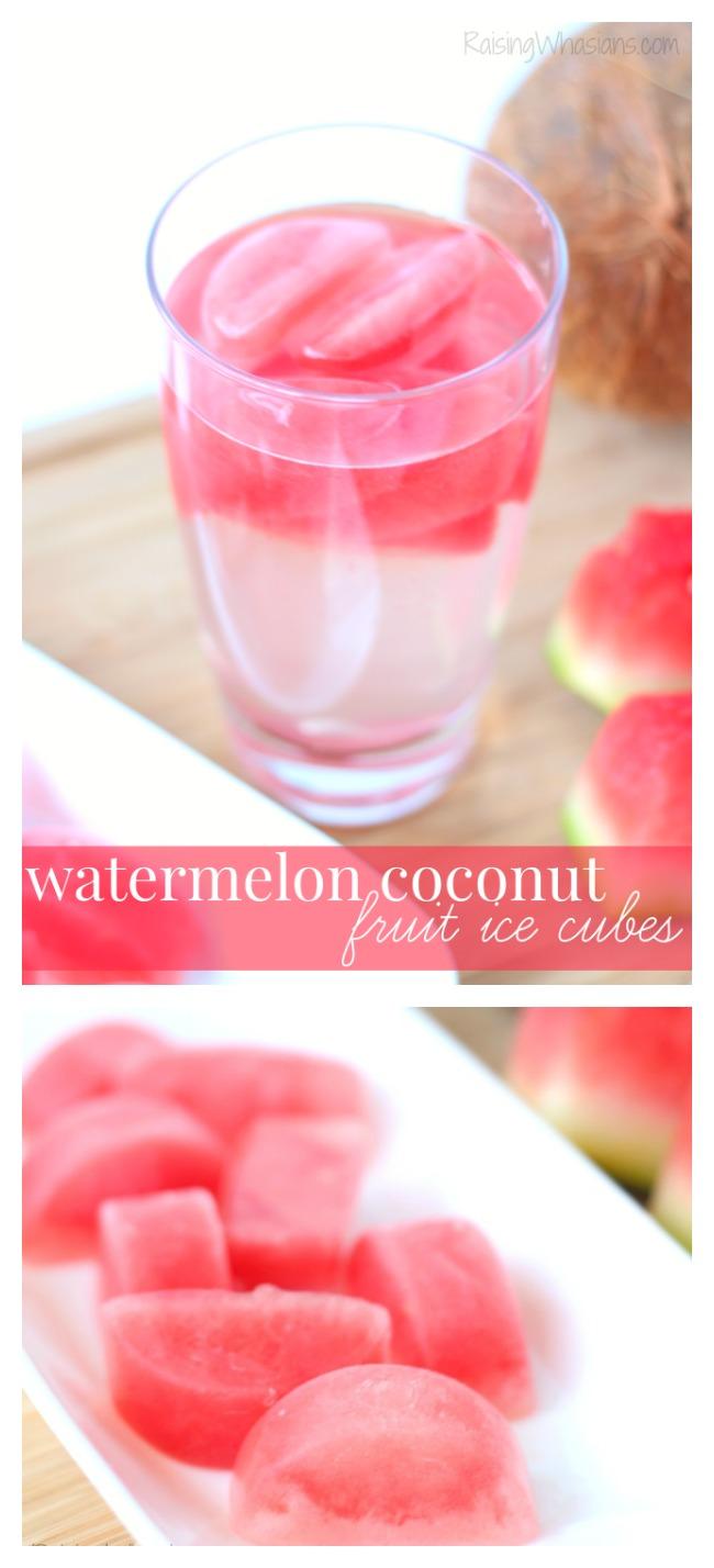Watermelon fruit ice cubes pinterest
