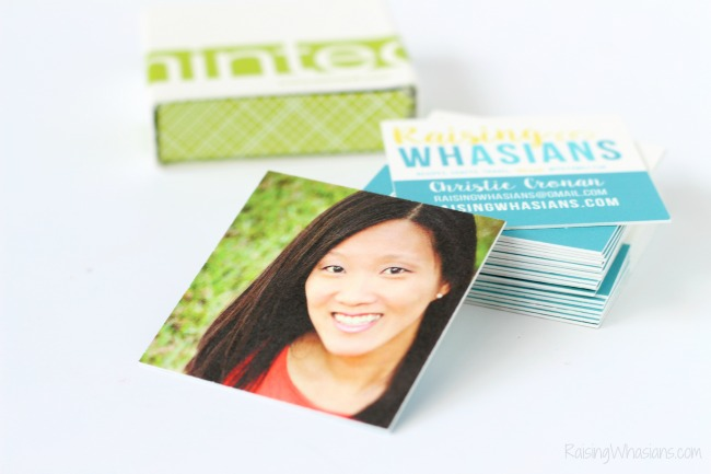Minted business cards doublethick