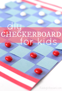 DIY Checkerboard for Kids – Americana Inspired