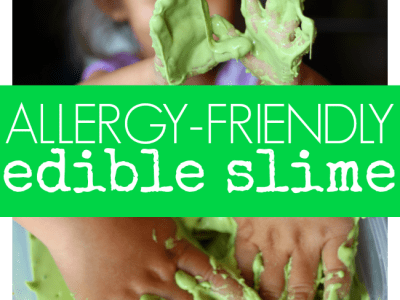 Allergy-friendly edible slime