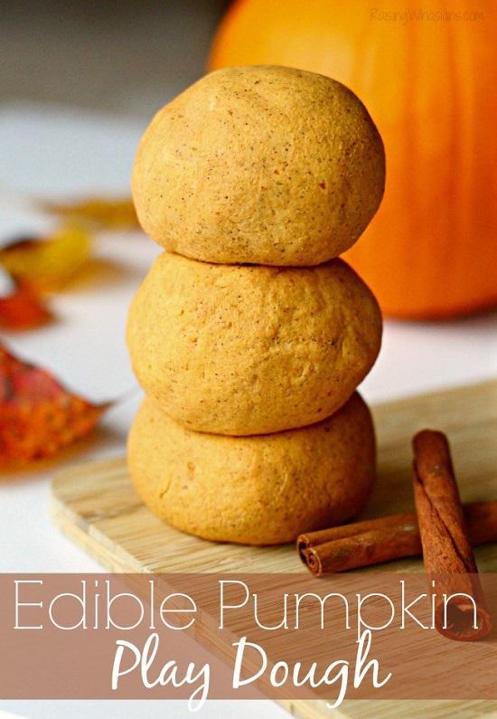 Allergy friendly pumpkin play dough