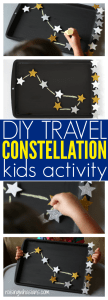 DIY travel constellation activity for kids