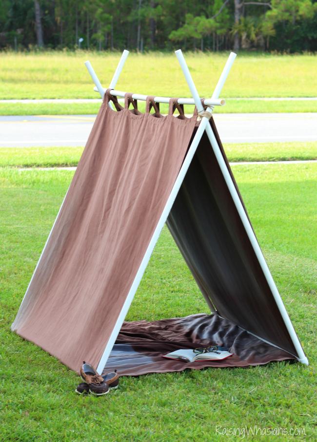 Easy A frame tent diy