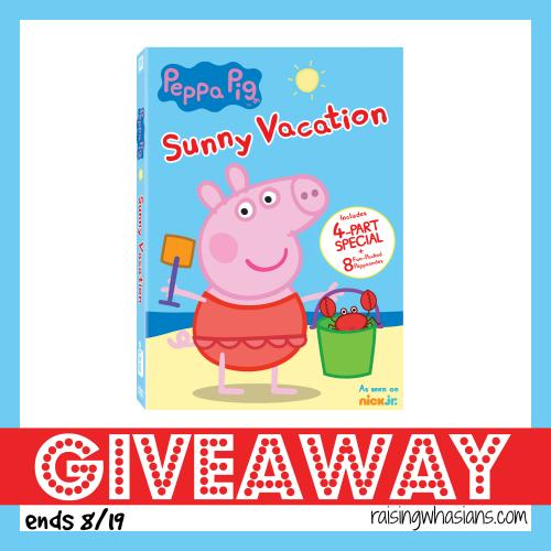 Peppa pig summer vacation dvd giveaway