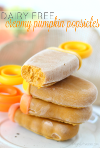 3-Ingredient Creamy Pumpkin Popsicles {No Dairy}